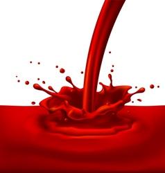 Red paint splashing vector