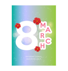 Red style 8 march brochure banner 8 march vector