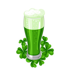 saint patricks day ale or beer in vector image