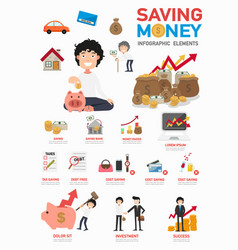 Saving money infographics vector