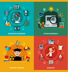 Science and research banners vector