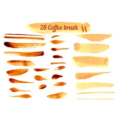 Set of Watercolor Coffee Lines vector image