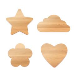 set wooden decoration vector image