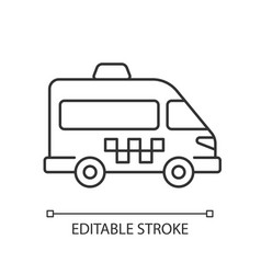 shuttle buses linear icon vector image
