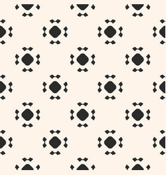 Simple seamless pattern rounded floral figures vector
