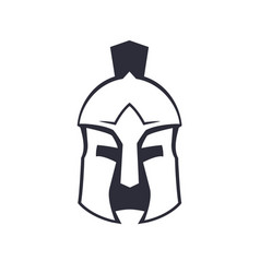 Spartan greek helmet over white vector