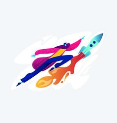 Start up launch concept vector