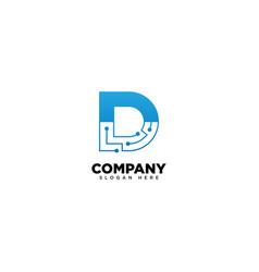 Technology letter d - logo vector