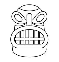 Tiki idol head icon outline style vector