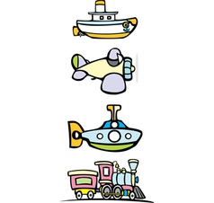 Toy Transportation vector image