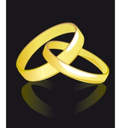 Two rings for newlyweds vector