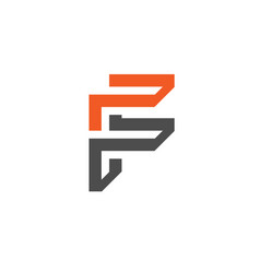 Unique letter f creative logo vector
