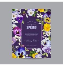 Vintage Floral Colorful Frame - for Invitation vector