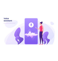 voice recognition personal ai assistant search vector image