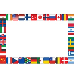 World flag icons frame vector