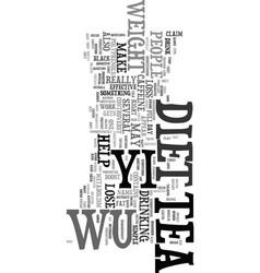 Wu yi diet text word cloud concept vector