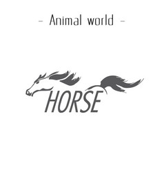 animal world horse running horse background vector image