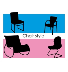 Chair style vector image vector image