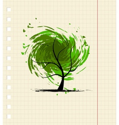 Grunge tree for your design vector image vector image