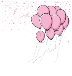 pink balloon on white background vector image