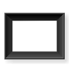 Realistic black frame vector image