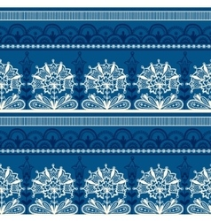 Seamless Blue Black Lace Pattern vector image vector image