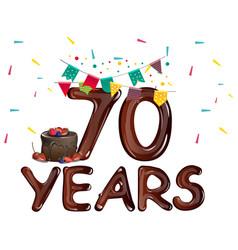 70 years anniversary card vector image
