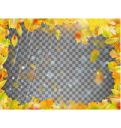 Autumn abstract floral background eps 10 vector