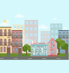 bookshop in a town vector image