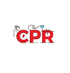 CPR word design vector image