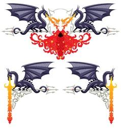 fantasy floral borders vector image vector image