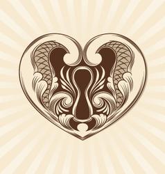 Love Ornamental vector image vector image