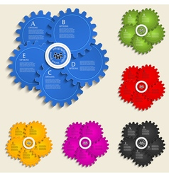 Abstract design template with gear wheels - info vector image