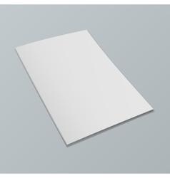 Blank opened magazine mockup template Realistic vector image