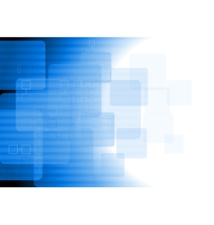 Blue tech background vector image vector image