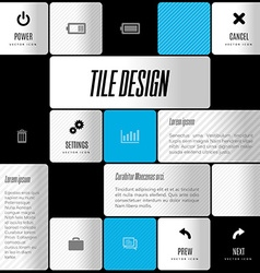 Business tile design design elements for flyers vector image vector image