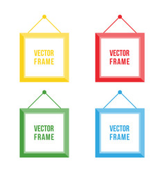 flat design colorful picture frame set collection vector image vector image