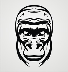 Gorilla Face Tribal vector image