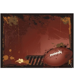 grunge american football background vector image vector image