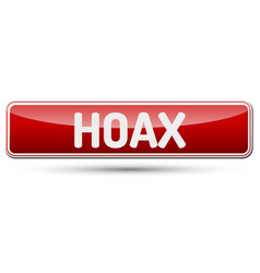 hoax - abstract beautiful button with text vector image vector image