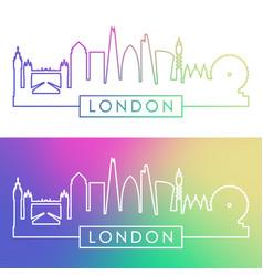 london skyline colorful linear style editable vector image