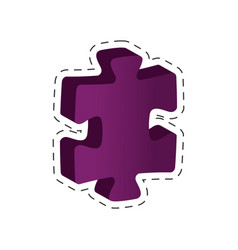 piece puzzle solution image vector image