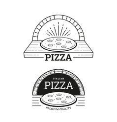 Pizza labels design vector image vector image