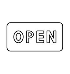 sign open black color icon vector image vector image