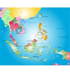 southeast asia map vector image vector image