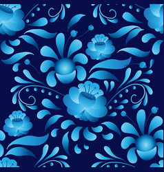 white-and-blue elegance seamless pattern in vector image
