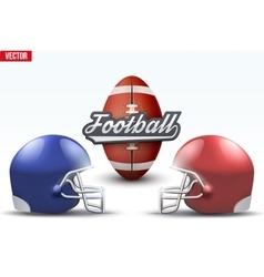 Football ball and helmets vector image vector image