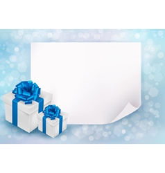 Holiday background with sheet of paper vector image vector image