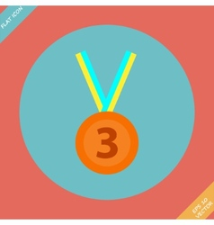 3rd Position Bronze Medal Icon - vector