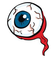 A big eyeball for halloween or color vector